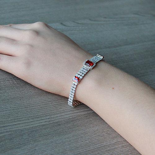 bracelet femme argent zirconium 9500267 pic5