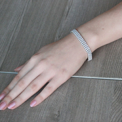 bracelet femme argent zirconium 9500269 pic4