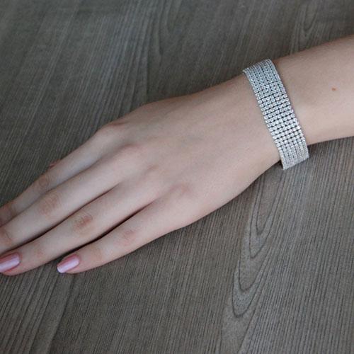 bracelet femme argent zirconium 9500270 pic4