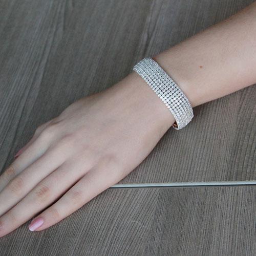 bracelet femme argent zirconium 9500271 pic4