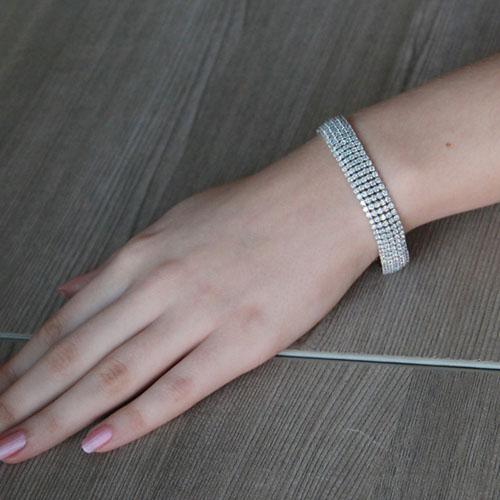 bracelet femme argent zirconium 9500272 pic4