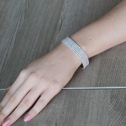bracelet femme argent zirconium 9500273 pic4
