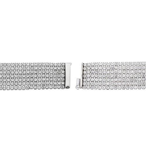 bracelet femme argent zirconium 9500274 pic3