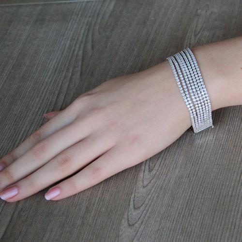 bracelet femme argent zirconium 9500274 pic4