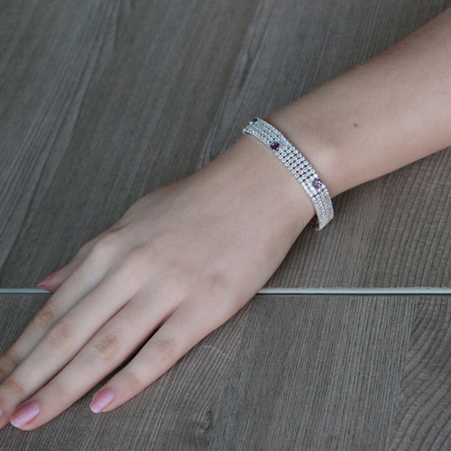 bracelet femme argent zirconium 9500275 pic4