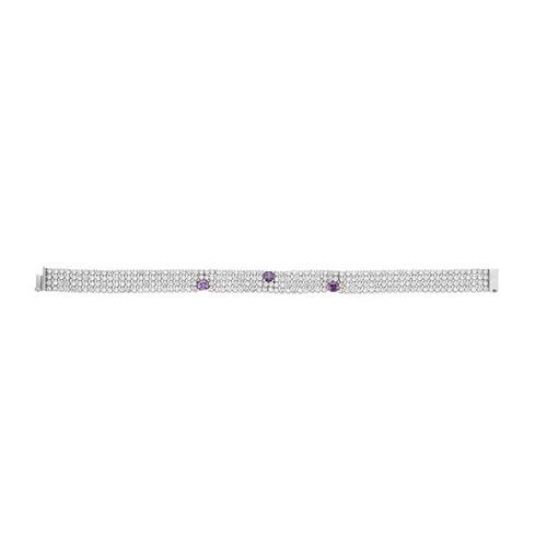 bracelet femme argent zirconium 9500275
