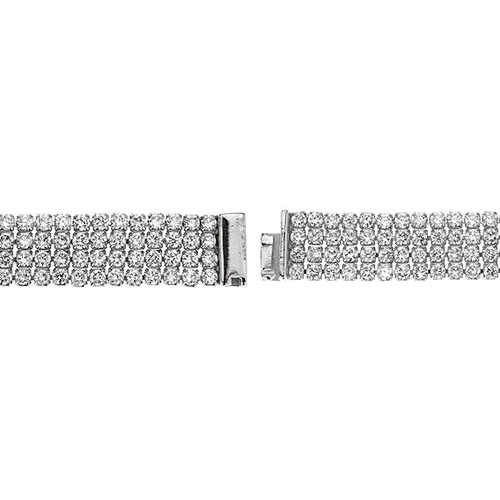 bracelet femme argent zirconium 9500276 pic3