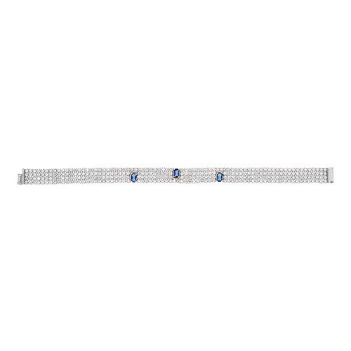 bracelet femme argent zirconium 9500276