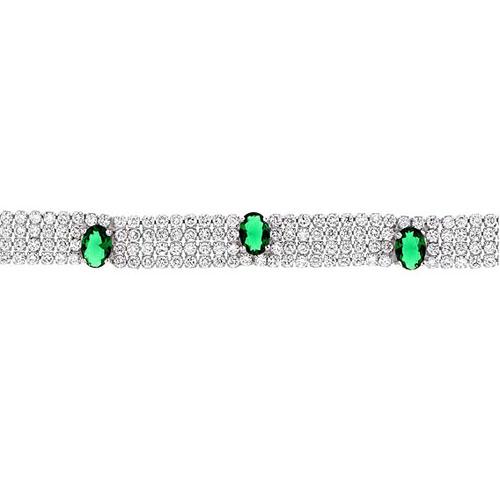 bracelet femme argent zirconium 9500277 pic2