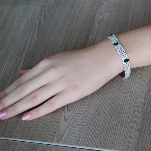bracelet femme argent zirconium 9500277 pic4