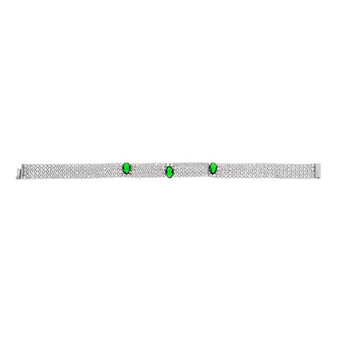 bracelet femme argent zirconium 9500277