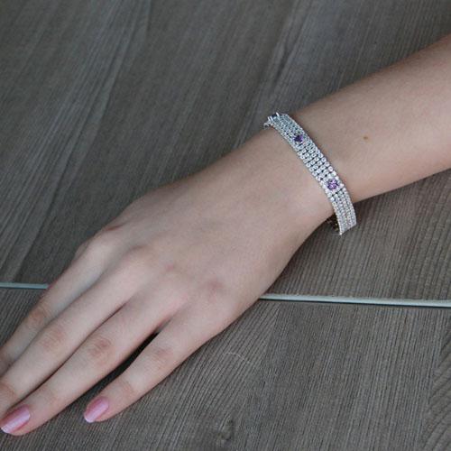 bracelet femme argent zirconium 9500278 pic4