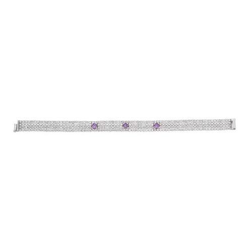 bracelet femme argent zirconium 9500278