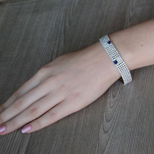 bracelet femme argent zirconium 9500279 pic4