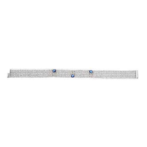 bracelet femme argent zirconium 9500279