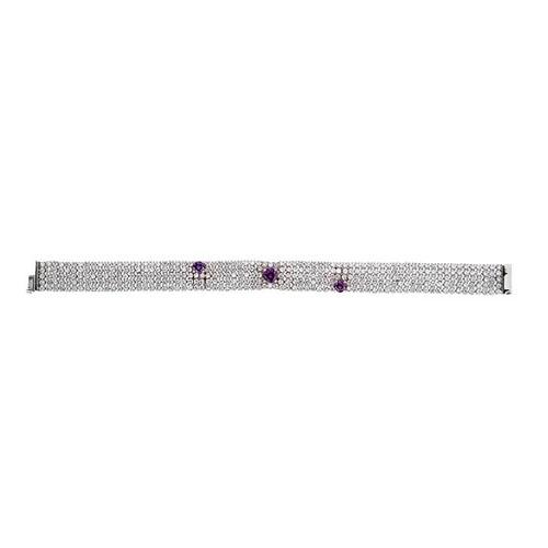 bracelet femme argent zirconium 9500280