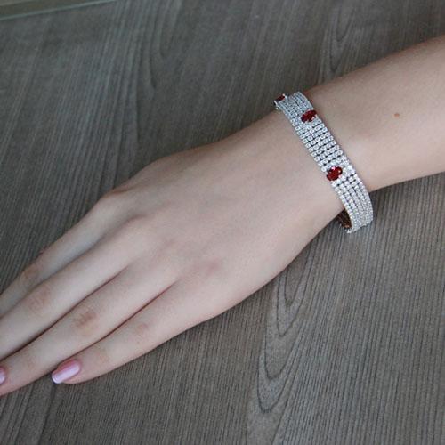 bracelet femme argent zirconium 9500281 pic4