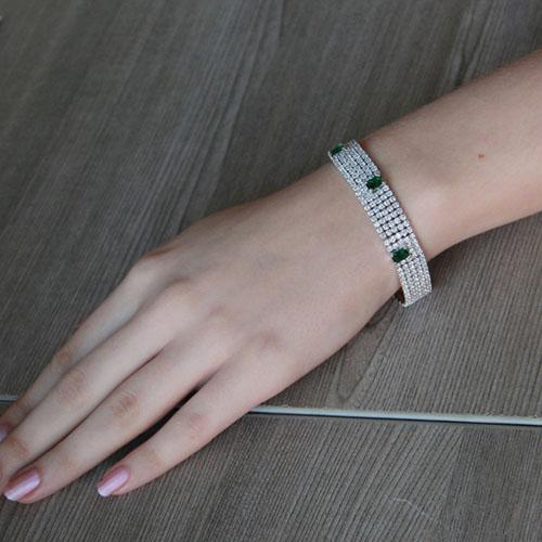 bracelet femme argent zirconium 9500282 pic4