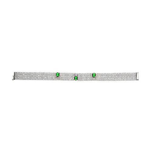 bracelet femme argent zirconium 9500282