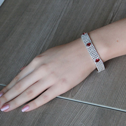 bracelet femme argent zirconium 9500283 pic4