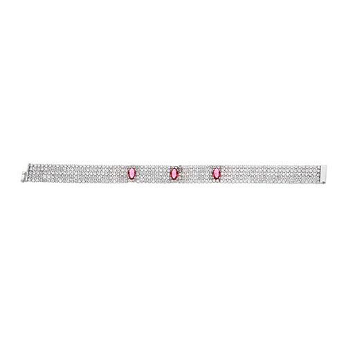 bracelet femme argent zirconium 9500283