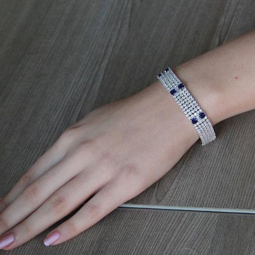 bracelet femme argent zirconium 9500284 pic4