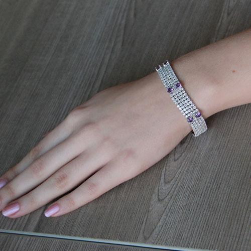 bracelet femme argent zirconium 9500285 pic4