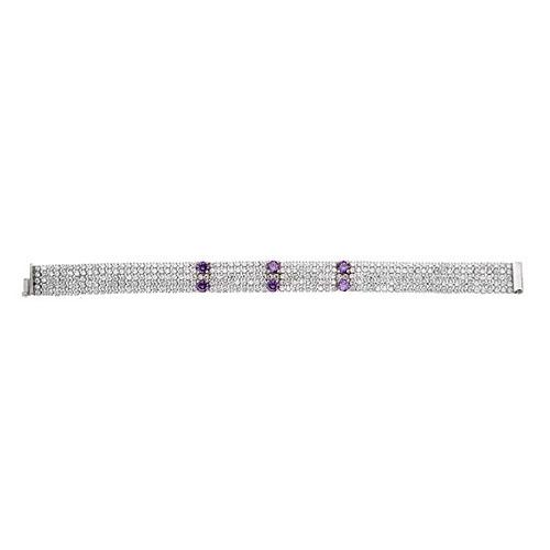 bracelet femme argent zirconium 9500285