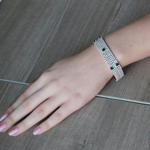 bracelet femme argent zirconium 9500286 pic4