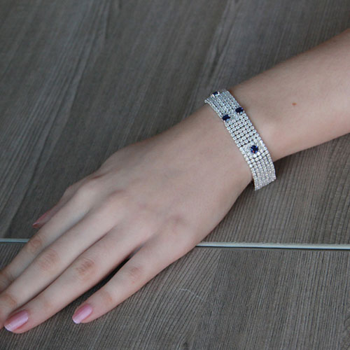 bracelet femme argent zirconium 9500287 pic4