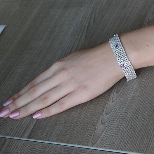 bracelet femme argent zirconium 9500288 pic4
