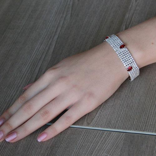 bracelet femme argent zirconium 9500289 pic4
