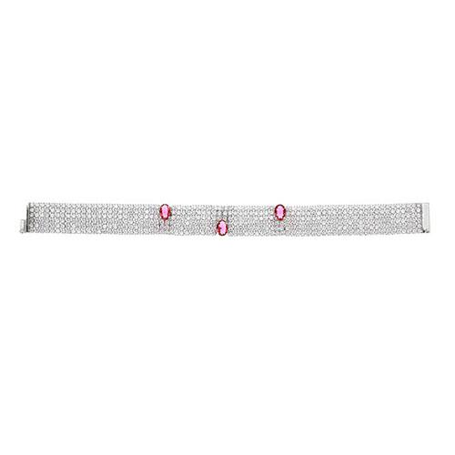 bracelet femme argent zirconium 9500289