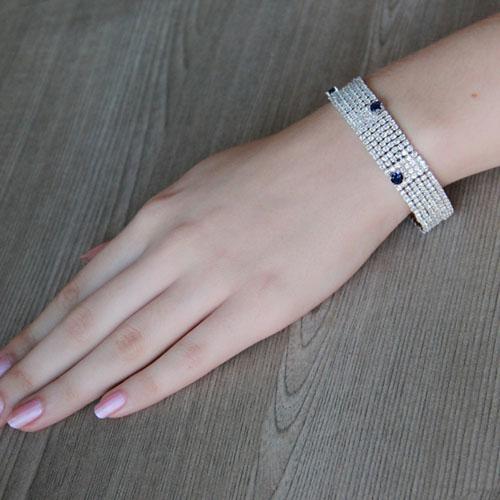 bracelet femme argent zirconium 9500290 pic4