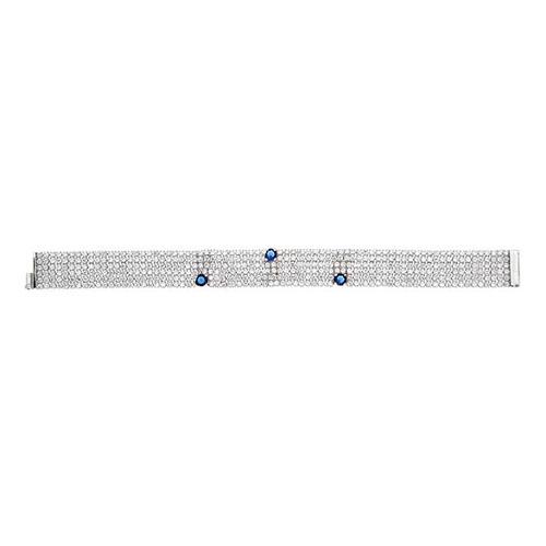 bracelet femme argent zirconium 9500290