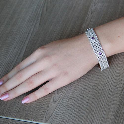 bracelet femme argent zirconium 9500292 pic4