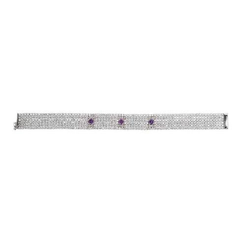 bracelet femme argent zirconium 9500292