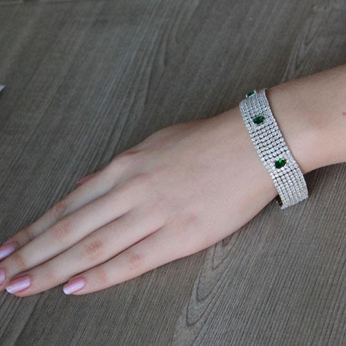bracelet femme argent zirconium 9500293 pic4