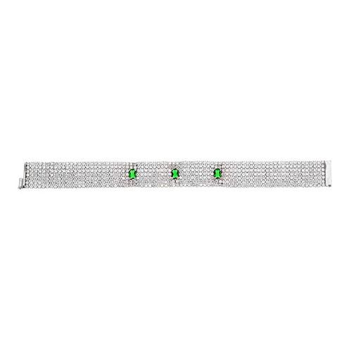 bracelet femme argent zirconium 9500293