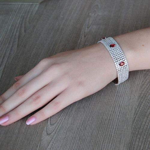 bracelet femme argent zirconium 9500294 pic4
