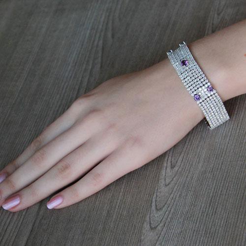 bracelet femme argent zirconium 9500295 pic4