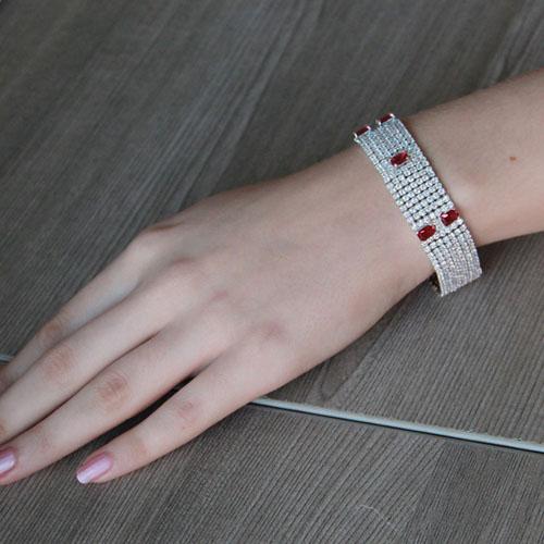 bracelet femme argent zirconium 9500296 pic4