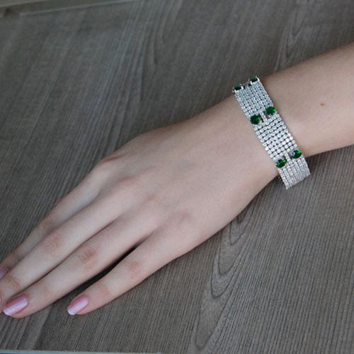 bracelet femme argent zirconium 9500297 pic4