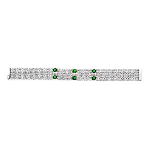 bracelet femme argent zirconium 9500297