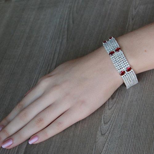 bracelet femme argent zirconium 9500298 pic4