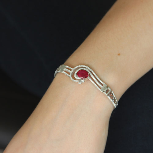 bracelet femme argent zirconium 9500302 pic4