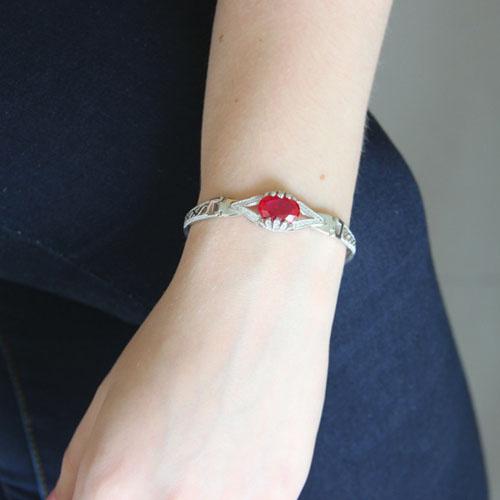 bracelet femme argent zirconium 9500306 pic4