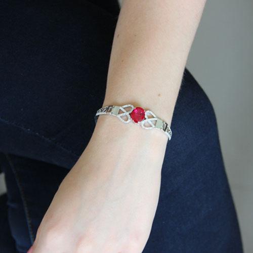 bracelet femme argent zirconium 9500307 pic4