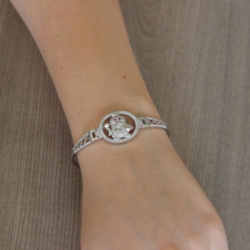 bracelet femme argent zirconium 9500311 pic5