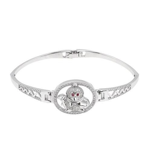 bracelet femme argent zirconium 9500311